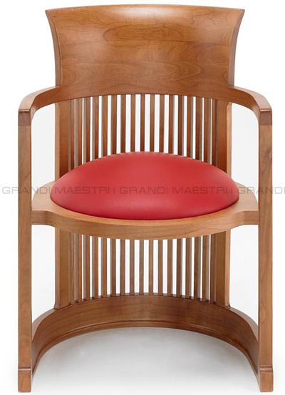 Sedia barrel chair frank lloyd wright for Sedia barrel wright