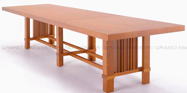 Taliesin table tavolo riunione f l wright - I grandi maestri del design ...