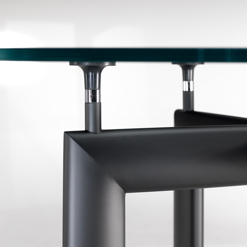 Scrivanie le corbusier con piano in vetro tavoli riunione - Tavolo cristallo le corbusier ...
