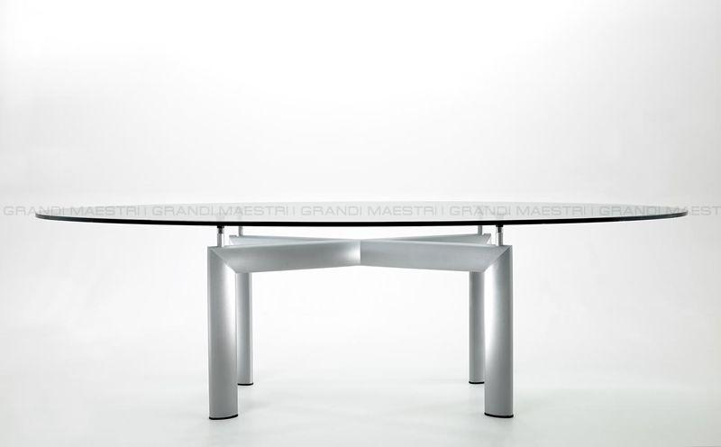 Tavolo riunioni le corbusier con piano in vetro - Le corbusier tavolo ...