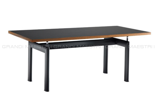 Tavolo lc6 le corbusier con piano in legno tube d 39 avion - Tavolo cristallo le corbusier ...