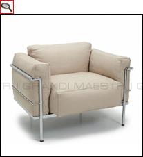 fauteuil lc3 grand confort le corbusier. Black Bedroom Furniture Sets. Home Design Ideas