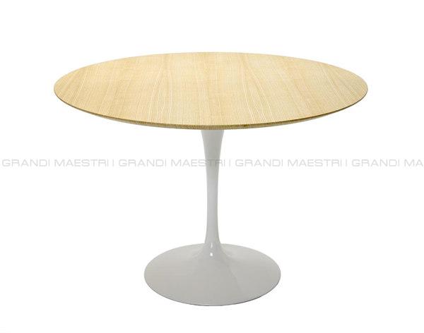 Tavolo Saarinen Tulip Table Con Piano In Legno I Grandi Maestri
