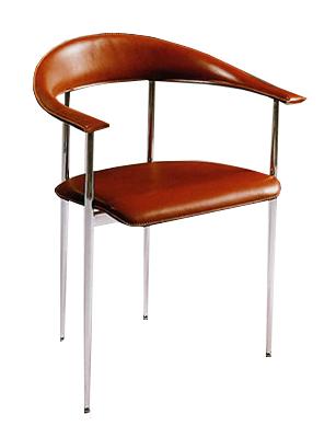 Sedie Metallo E Cuoio.Sedie E Poltroncine I Grandi Maestri Del Design